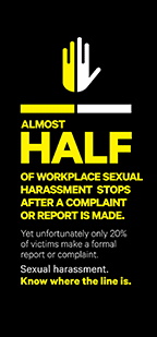 Almost half of workplace sexual harassment stops after a complaint or report is made
